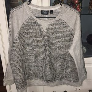 Gray sweater pull over